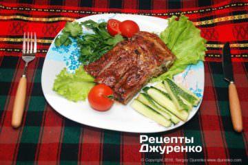 Фото до рецепту: запечені свинячі ребра