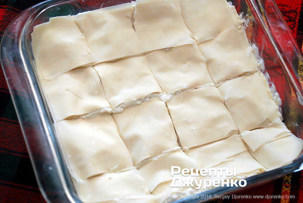 Разрезанное тесто.