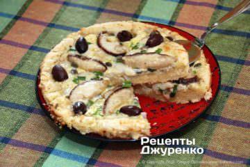 Фото к рецепту: пирог с грибами