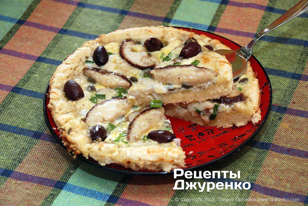 Пирог с грибами.