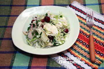 Фото рецепта салат из капусты с яблоком