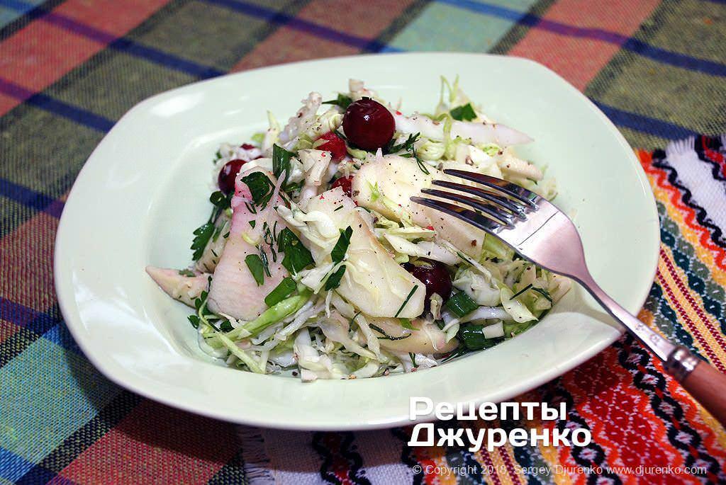Салат из капусты с яблоком — вкусно, полезно и минимум калорий.