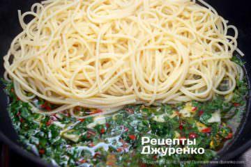 Шаг 7: паста в оливковом масле