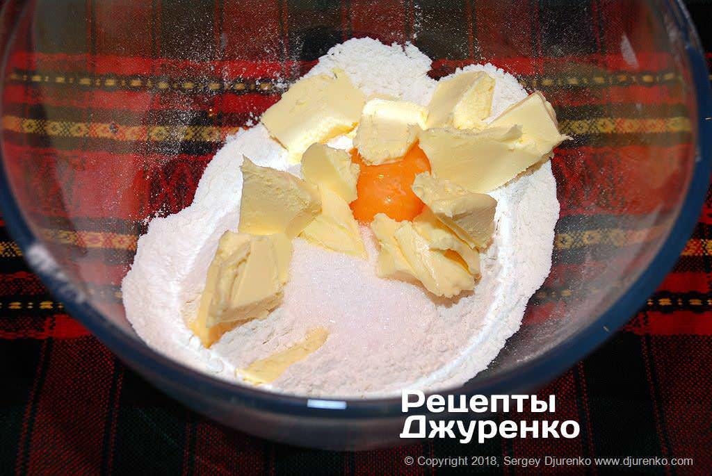 Інгредієнти пісочного тіста.