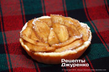 тарталетка с яблоком
