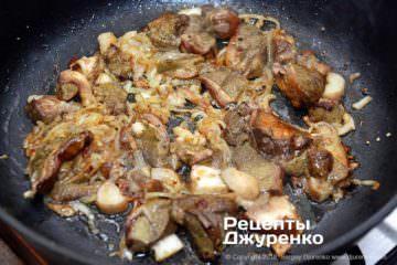 Крок 3: смажені гриби з цибулею