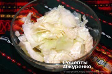 Як приготувати Салат з капусти кольрабі. Крок 8: стружка капустиы