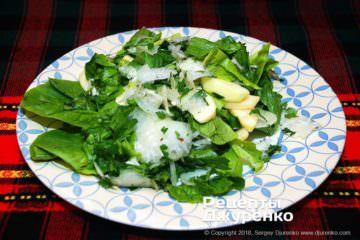 Фото рецепта салат з капусти кольрабі