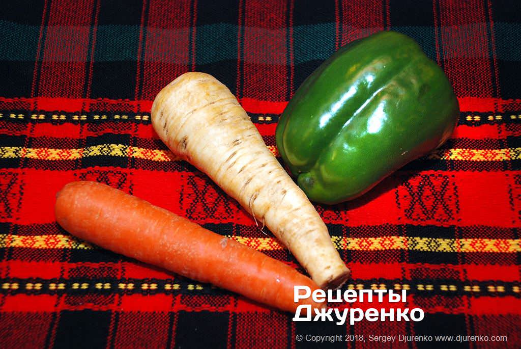 Как приготовить Сибас запеченный в духовке. Шаг 8: овощи для гарнира