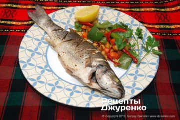 сибас запеченный в духовке фото рецепта