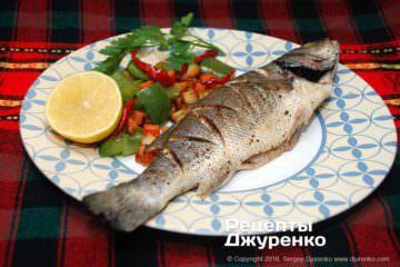 Фото рецепта сібас запечений в духовці