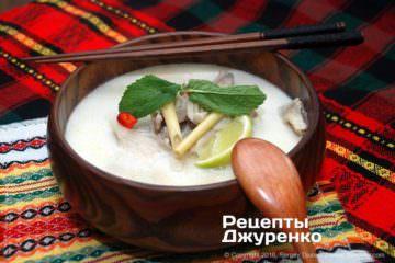 Фото рецепта суп том кха кай