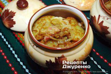 Як приготувати Картопляні драники. Крок 16: Драники в горщику