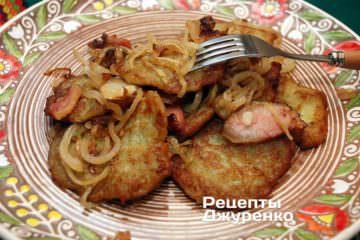 Готовое блюдо драники