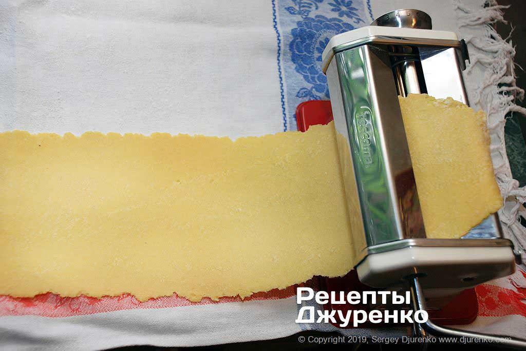 Як приготувати Гарганеллі, домашня паста. Крок 8: тісто тонко