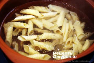 Як приготувати Гарганеллі, домашня паста. Крок 20: зварена паста