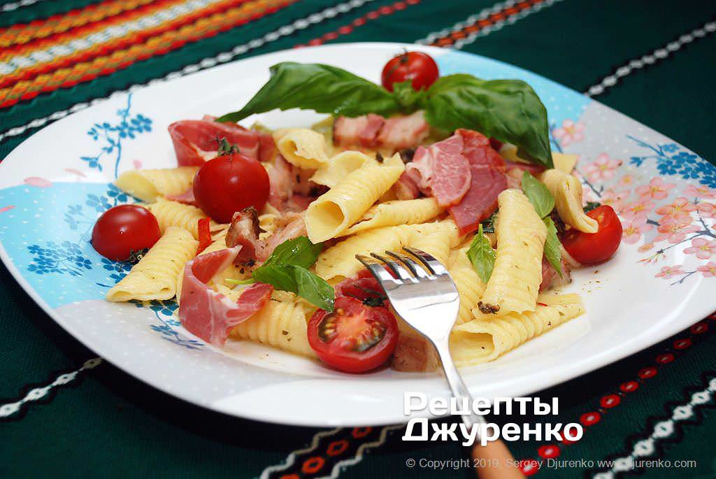 Фото готового рецепту домашня паста гарганеллі в домашніх умовах