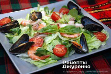 Фото до рецепту: морський салат