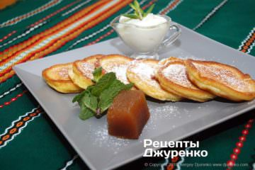 Фото рецепта скороспелые оладьи на кефире