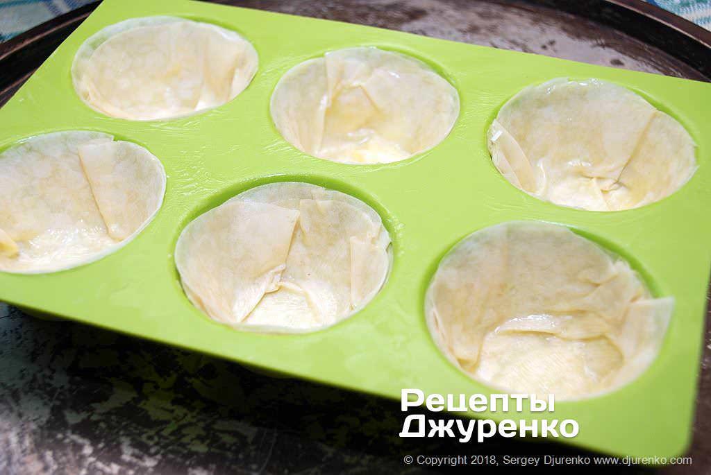 Слоеное тесто для тарталеток.