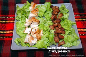 Шаг 3: бекон и жареная курица