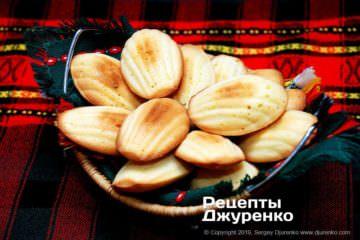 Фото рецепта печенье мадлен
