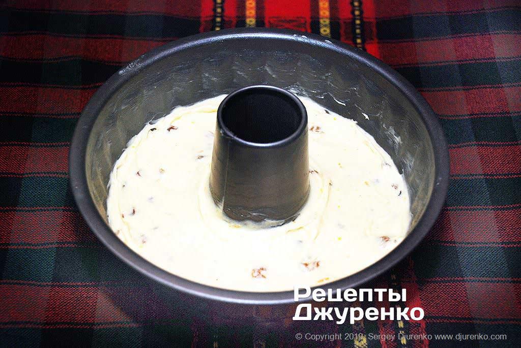 Как приготовить Кекс с изюмом. Шаг 8: форма для выпечки кекса