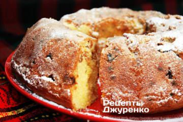 Фото рецепта кекс з родзинками