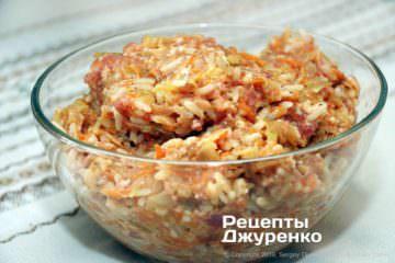 Крок 4: овочі з рисом
