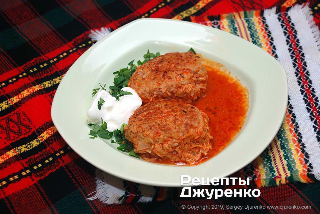 Готова страва Ліниві голубці - проста в приготуванні страва з відмінним смаком.