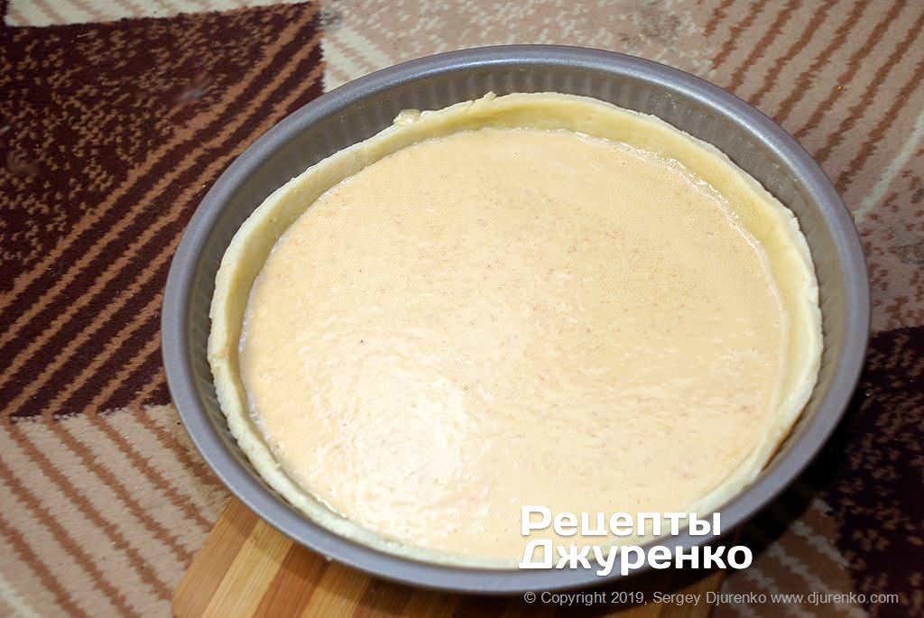 Как приготовить Грушевый пирог. Шаг 18: миндальную заливку