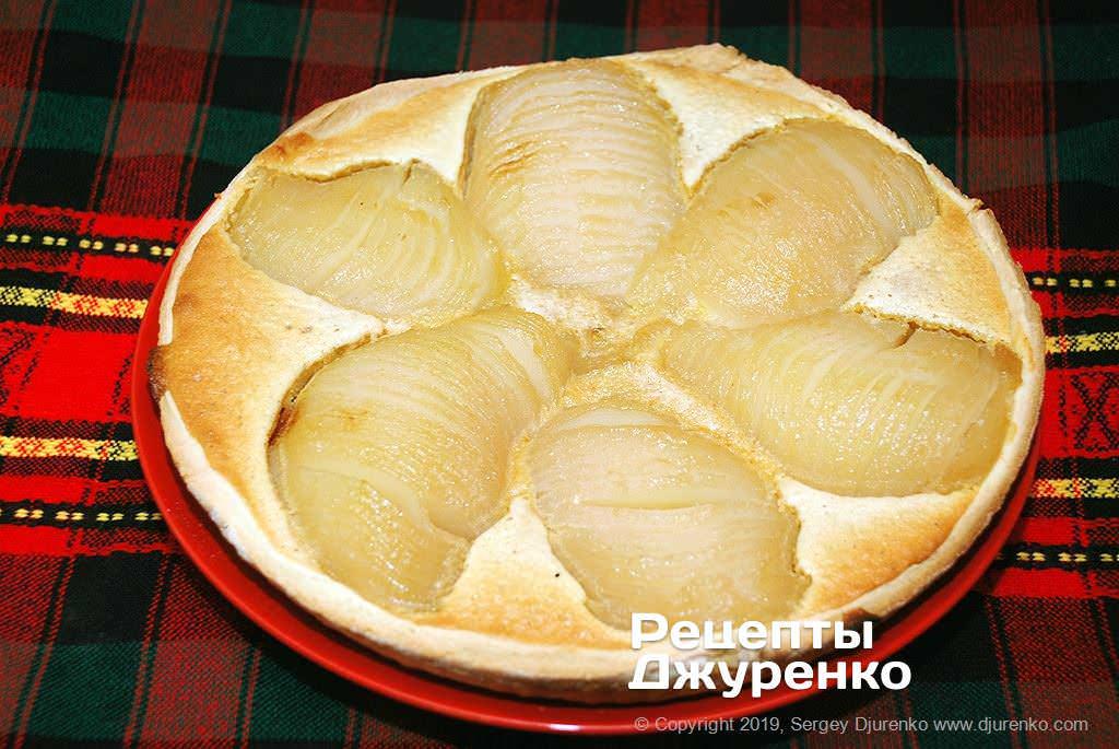 Как приготовить Грушевый пирог. Шаг 24: испеченный пирог