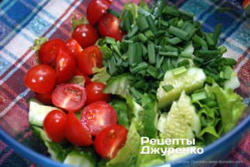 Как приготовить Салат с киноа. Шаг 6: овощная масса