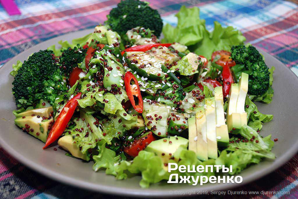 Фото готового рецепту салат з кіноа в домашніх умовах