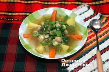 Фото до рецепту: суп зі шпинату