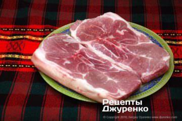 Шаг 1: свиной окорок с косточкой