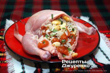 Шаг 2: курица с начинкой
