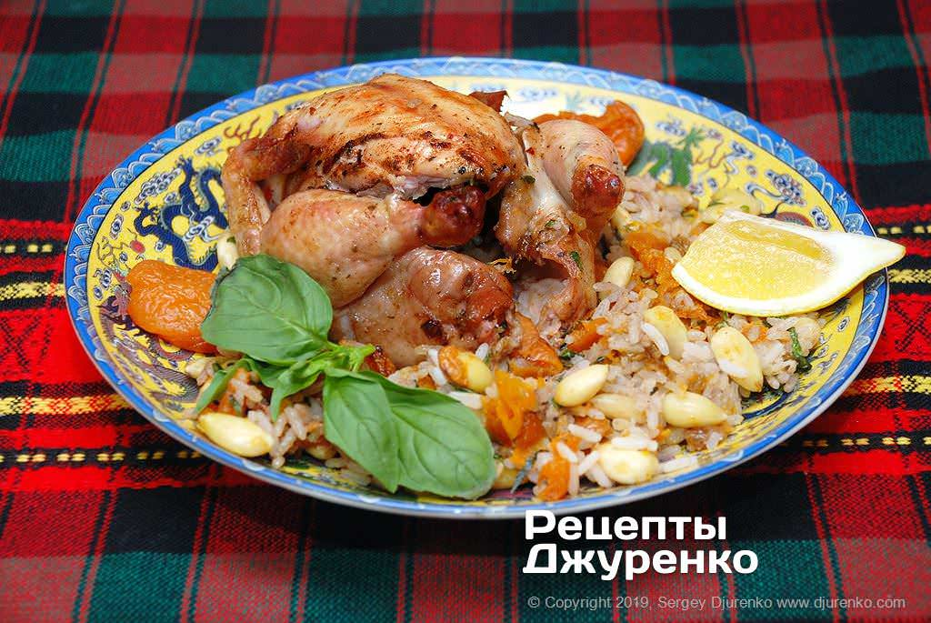 фаршированная курица фото рецепта