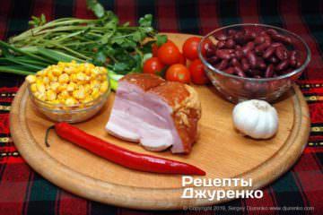 Шаг 1: фасоль, мясо и овощи