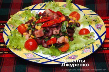 Фото рецепта мексиканский салат с красной фасолью
