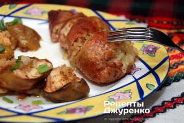 Фото рецепта фаршированные утиные шейки