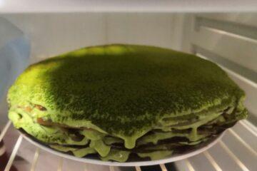 Фото Японский блинный торт с матча от автора Ева