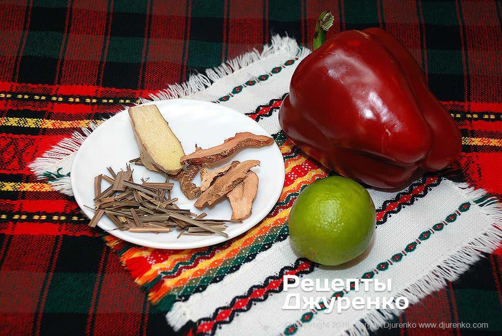 Спеції і овочі для карі.