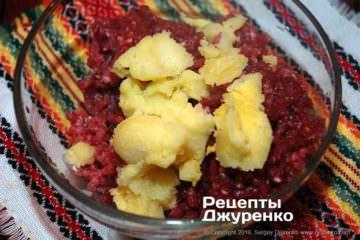 Шаг 2: измельченная говядина с картофелем