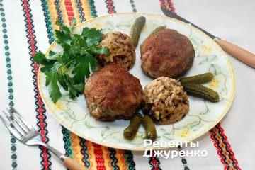 Фото до рецепту: котлети з яловичого фаршу