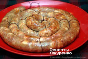 Фото до рецепту: куряча ковбаса