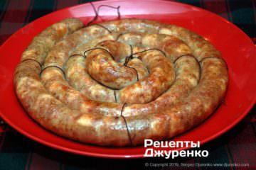 Готовое блюдо куриная колбаса