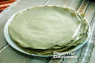 Как приготовить Блинный торт. Шаг 10: блины для торта
