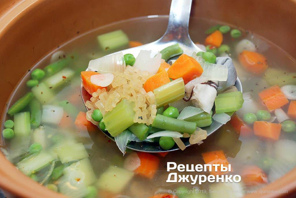 Шаг 3: мелкая суповая паста