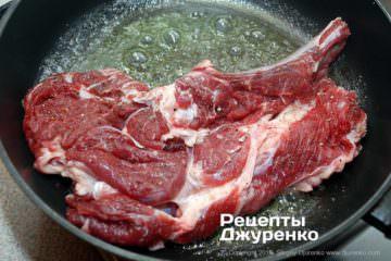 Как приготовить Антрекот из говядины. Шаг 4: антрекот в разогретом масле
